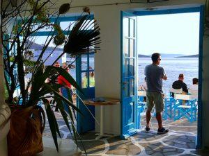 drinks at caprice bar on a luxury yoga retreat in mykonos greece