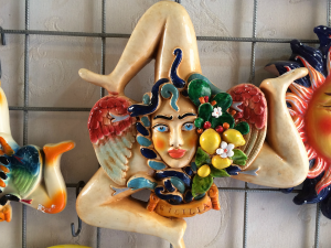 visiting a ceramics store in sicily italy with yoga escapes