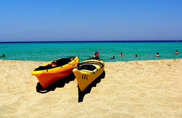 Chania beach boat activities on our yoga retreat