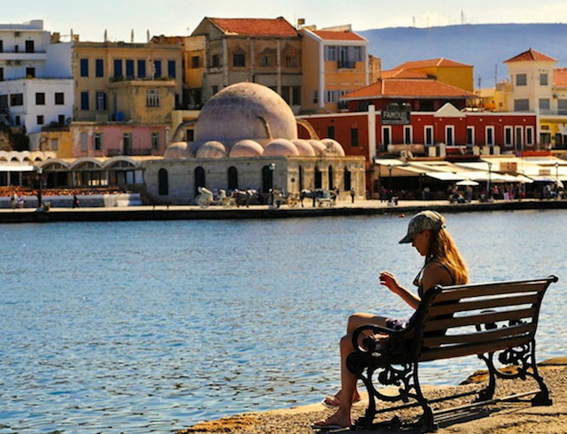 chania crete view of town