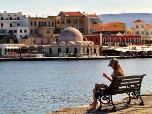 View of Harbour in Chania Crete