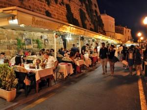 Dinner in Ciutadella in Menorca Spain on a yoga retreat