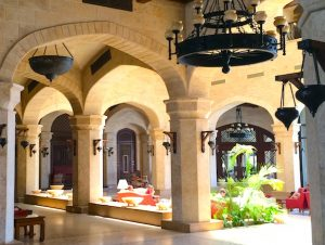 courtyard in egypt sat the kempinski hotel