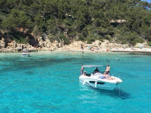 Daily boat trips in Menorca, Spain.