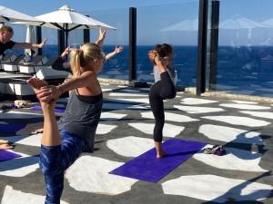 Dancer Pose Luxury Yoga Retreat Mykonos