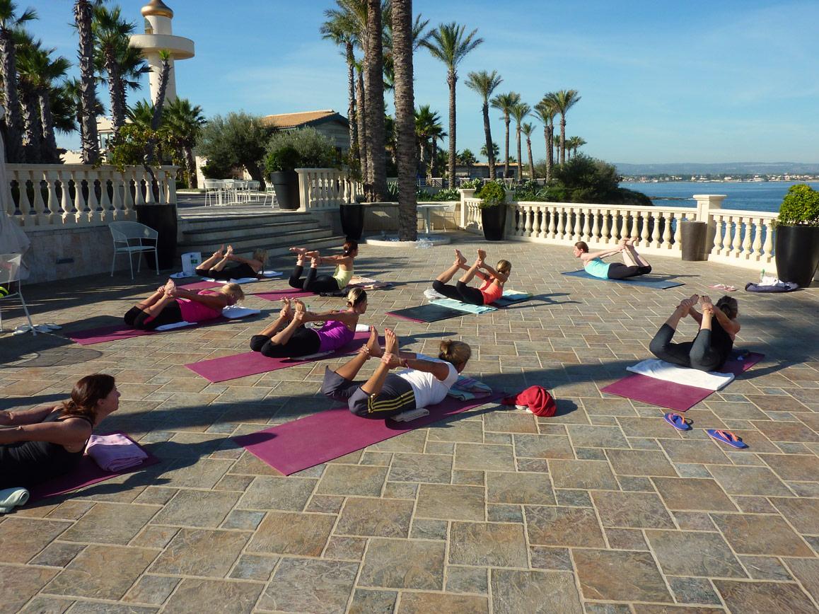 Danurasana yoga Sicily Yoga Retreat