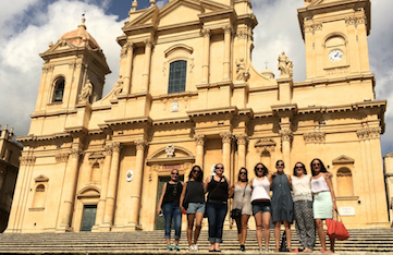 day trip to noto in sicily on a yoga retreat in italy with Yoga Escapes