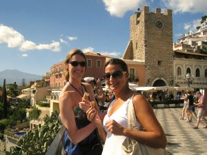 day trip to taormina in sicily with yoga escapes