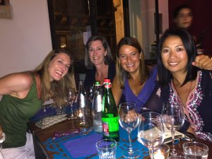 dinner in siracusa town in sicily with yoga escapes