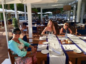 dinner in spain on a yoga retreat