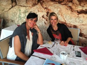 dinner in menorca spain with yoga escapes yoga group