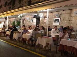Dinner in Menorca town.