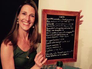 dinner menu at le vin de l'assassin in siracusa sicily on a yoga retreat