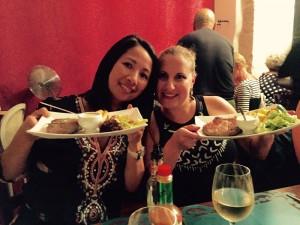 dinner in ortigia sicily with the yoga escapes team.