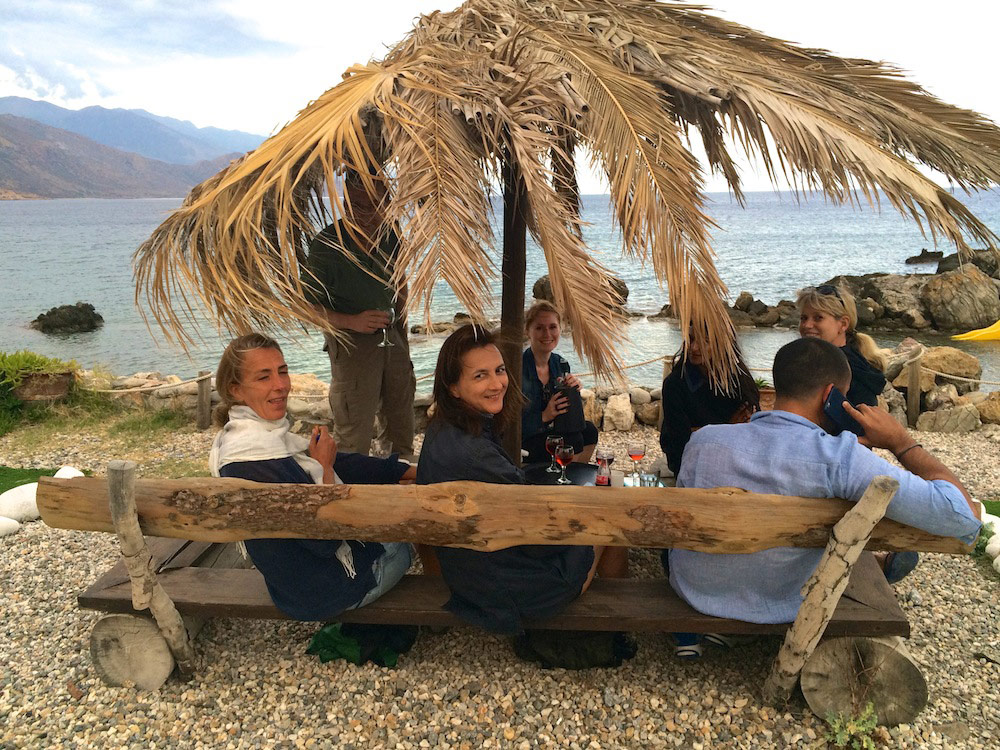 Drink by the sea in Crete