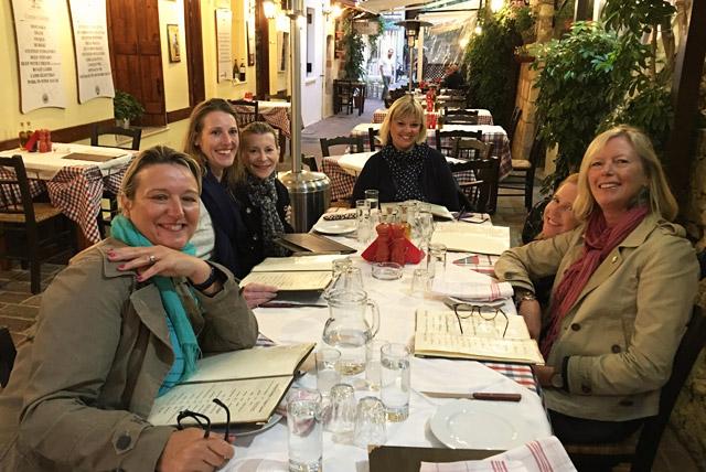 Enjoy dinner at Chania Strata Taverna with Yoga Escapes