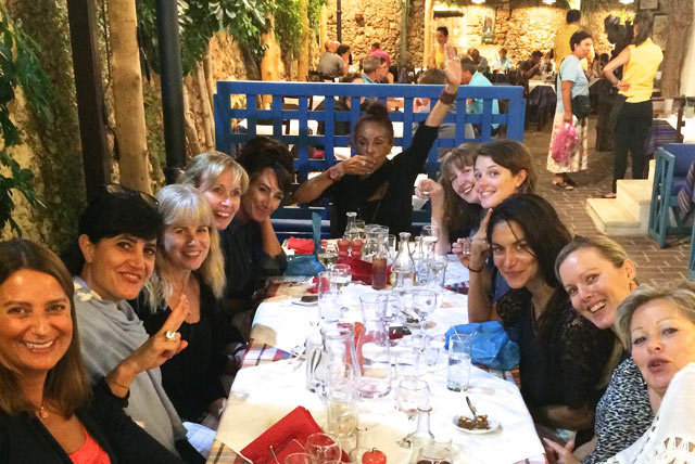 dinner in chania town on a yoga retreat in crete