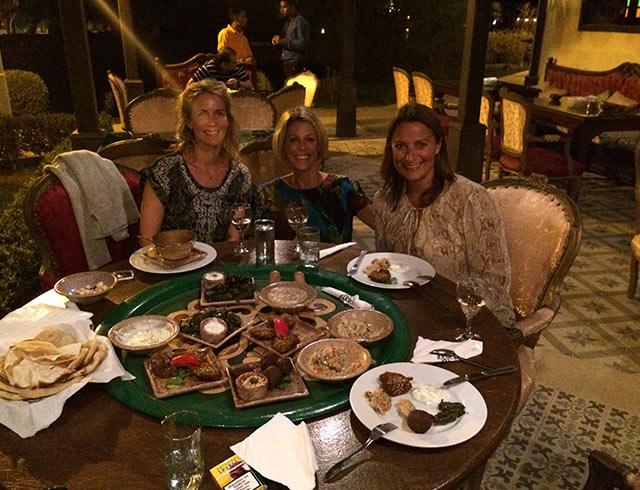 Evening Dinner in Soma Bay in Egypt