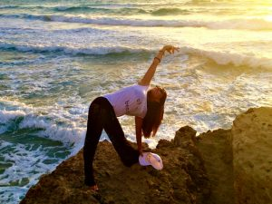 evening yoga on falasarna beach in crete greece with yoga escapes