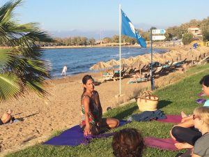 evening yoga class in crete