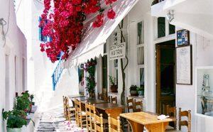 explore mykonos town streets on your yoga retreat