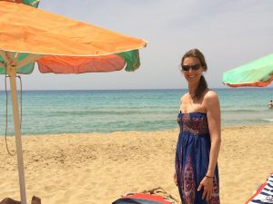 day trip to falasarna beach after morning yoga class in crete greece