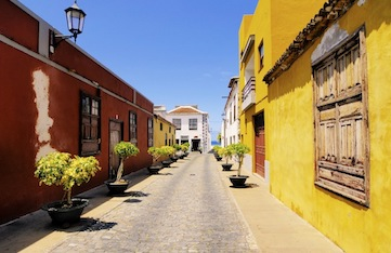 Small town Garachico in the northern part of Tenerife, Canary Islands, Spain
