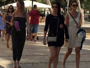 Lovely girls in Cuitadella, Menorca.