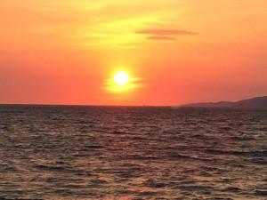 Gorgeous Sunset in Mykonos Greece