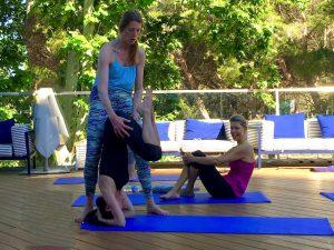 headstand practice spain yoga retreat
