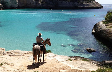 horse back riding in menorca spain