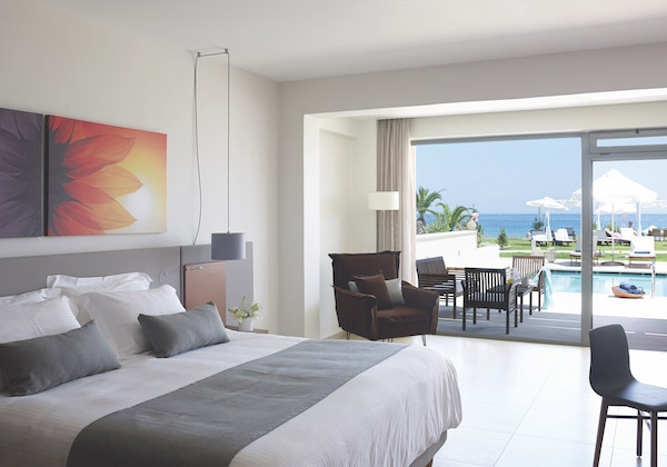 Kalliston 5 Star Hotel Room in Crete Greece on a Luxury Yoga Retreat