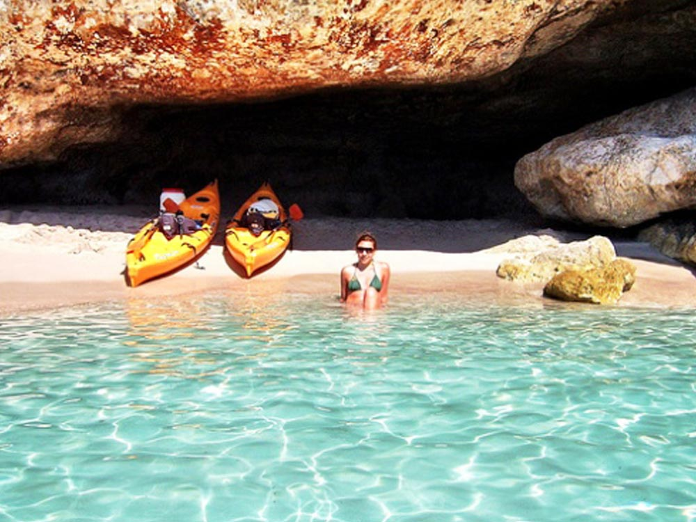 kayaking in cala galdana menorca
