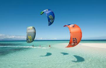 Kitesurfing in Soma Bay, Egypt