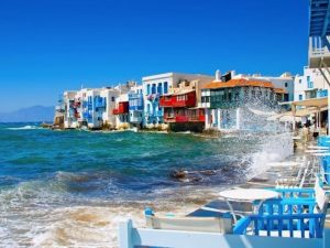 little venice in mykonos greece with Yoga Escapes