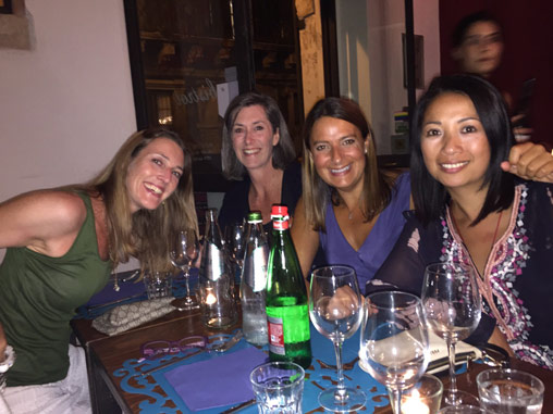 Meal in Sicily on a Yoga Retreat