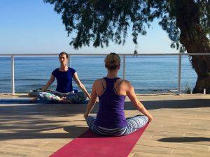 meditation and stillness on a luxury yoga retreat in crete greece