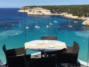 melia cala galdana hotel breakfast view on a luxury yoga retreat
