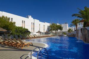 melia cala galdana pool in menorca spain on a 5 star yoga retreat