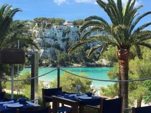 lunch at melia restaurant in menorca spain yoga retreat