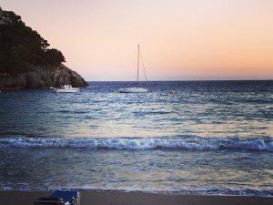 Menorca looking beautiful at dusk on a luxury yoga retreat