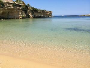 The beach at the Minareto hotel, Sicily.