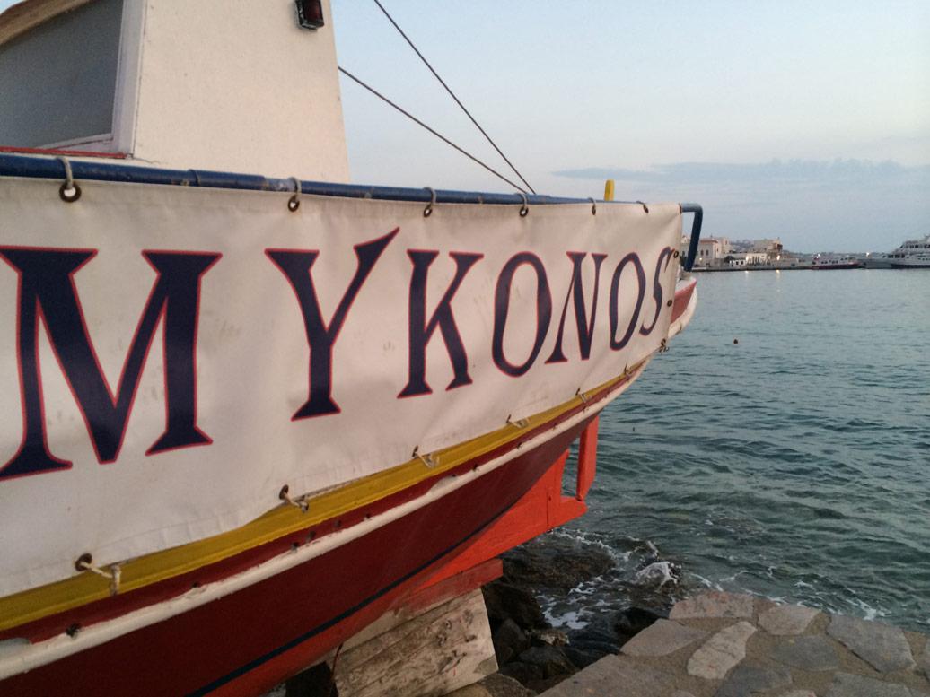 Mykonos boat
