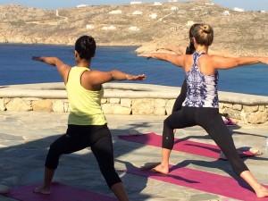 Yoga Class in Mykonos