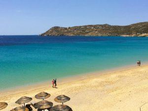 mykonos luxury yoga retreat on elia beach