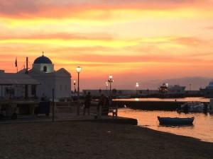 Mykonos Town Dusk Sunset