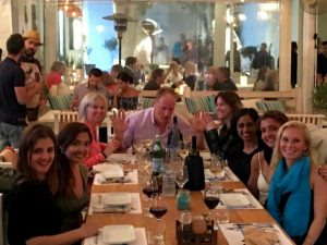 nice n easy restaurant dinner with yoga escapes in mykonos