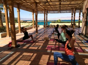Opening the heart at the Egypt Yoga Retreat