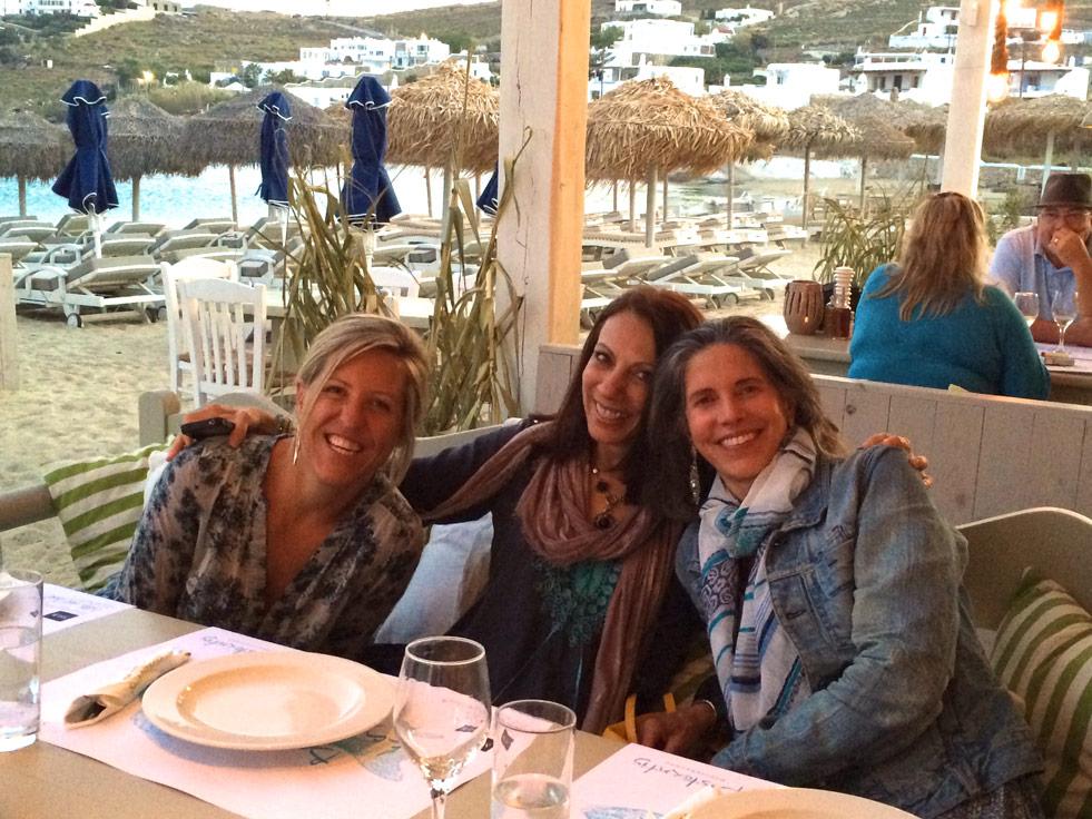 Ornos beach Mykonos dinner