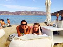 Panormos beach day in Mykonos